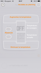 Gestion via l'application